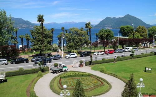 Stresa, view from Regina Palace Hotel, courtesy of Albatross traveller L Cox